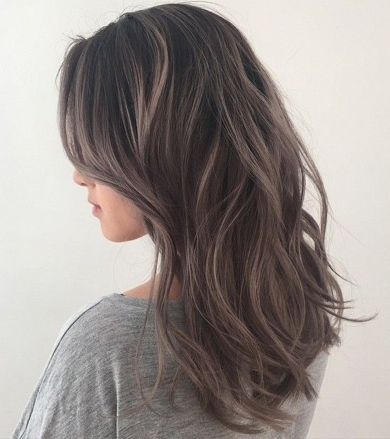 45 shades of grey silver and white highlights for eternal youth in ashy brown hair color 1 - Коричневый цвет волос: оттенки, фото, краска, видео