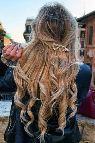 LOVEly Barrettes Half-Up #hairbarrettes