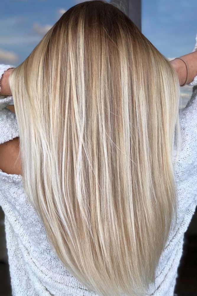 Platinum Blonde Highlights For Brown Hair
