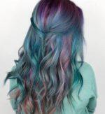 Бело синие волосы – Синий цвет волос — Модное окрашивание & Оттенки (фото)