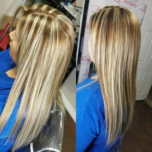 Мелирование кончиков волос белым
